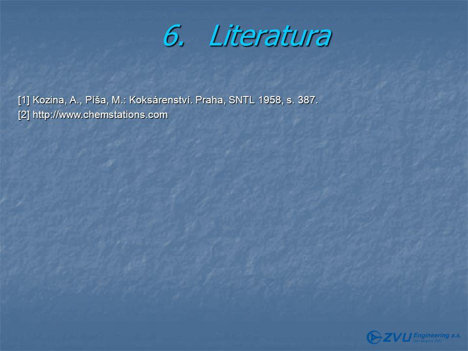 6. Literatura [1] Kozina, A., Píša, M.: Koksárenství.